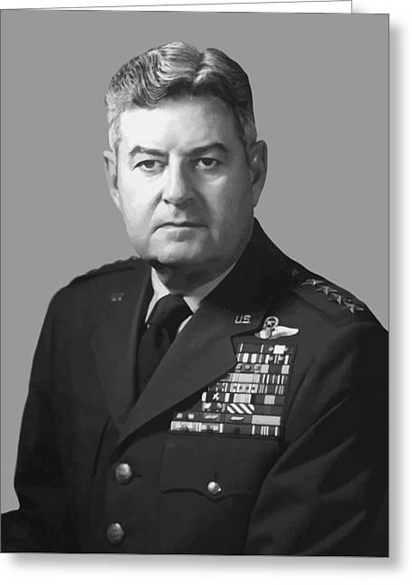 4th Digital Art Greeting Cards - General Curtis Lemay Greeting Card by War Is Hell Store