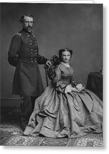 Last Stand Greeting Cards - General Custer and His Wife Libbie Greeting Card by War Is Hell Store