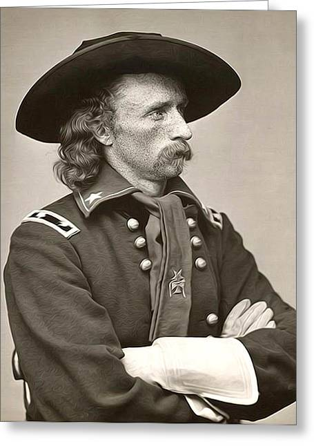 General Custer Greeting Cards - General Custer Greeting Card by Bill Cannon