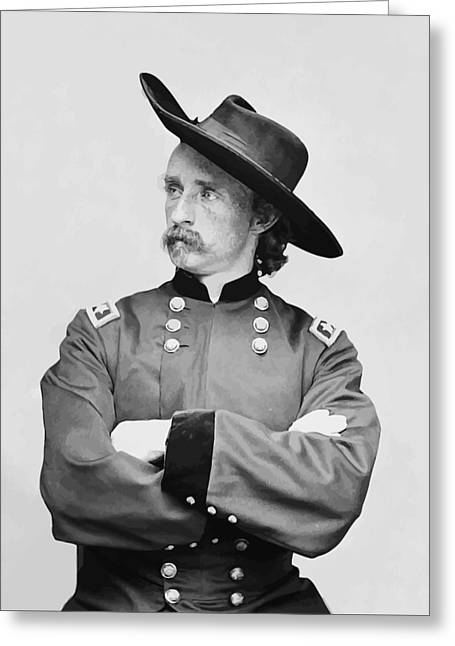 Last Stand Greeting Cards - General Custer Greeting Card by War Is Hell Store
