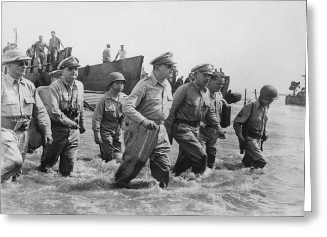 General Douglas Macarthur Returns Greeting Card by War Is Hell Store