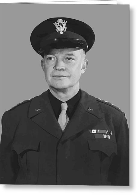 U S Presidents Greeting Cards - General Dwight D. Eisenhower Greeting Card by War Is Hell Store