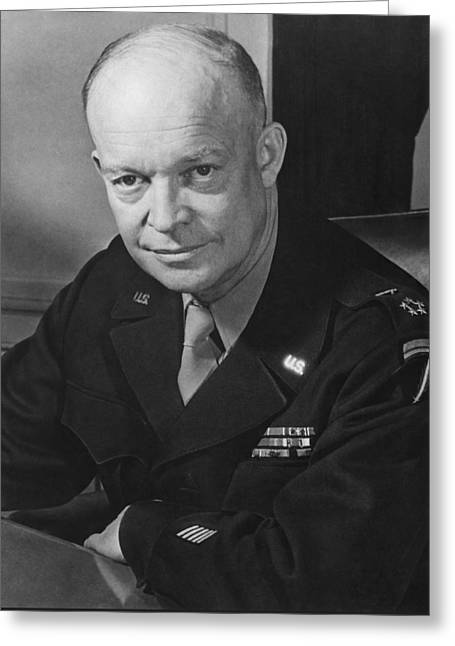 Army Photographs Greeting Cards - General Dwight Eisenhower Greeting Card by War Is Hell Store