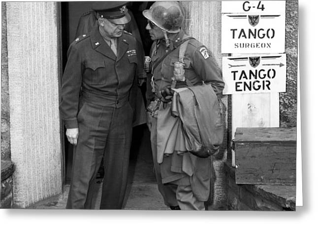 General Eisenhower and General Ridgway  Greeting Card by War Is Hell Store