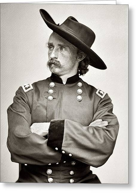 General Custer Greeting Cards - General George Armstrong Custer Greeting Card by Bill Cannon