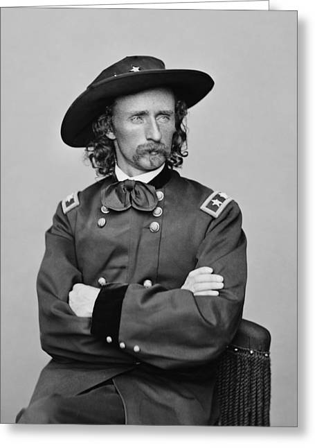 Battle Digital Greeting Cards - General George Armstrong Custer Greeting Card by War Is Hell Store
