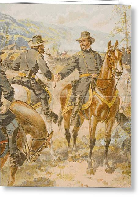 Engagement Picture Greeting Cards - General George H. Thomas At The Battle Greeting Card by Ken Welsh