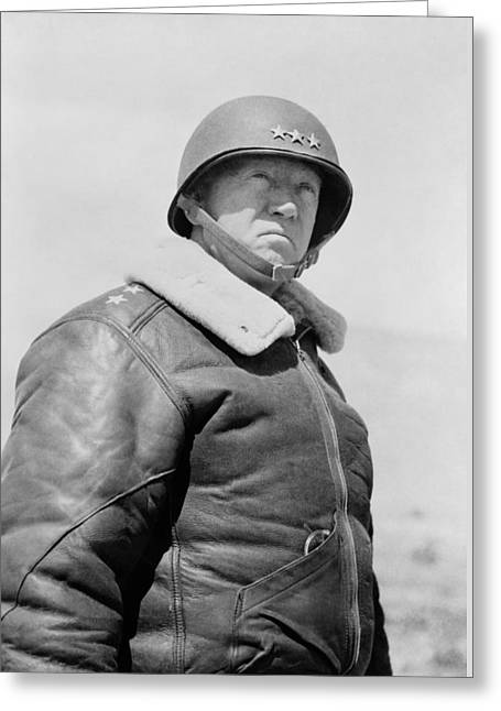 Army Tank Greeting Cards - General George S. Patton Greeting Card by War Is Hell Store