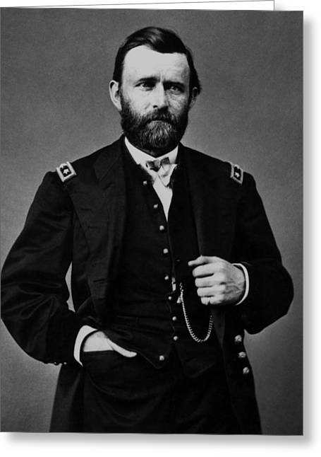President Paintings Greeting Cards - General Grant During The Civil War Greeting Card by War Is Hell Store