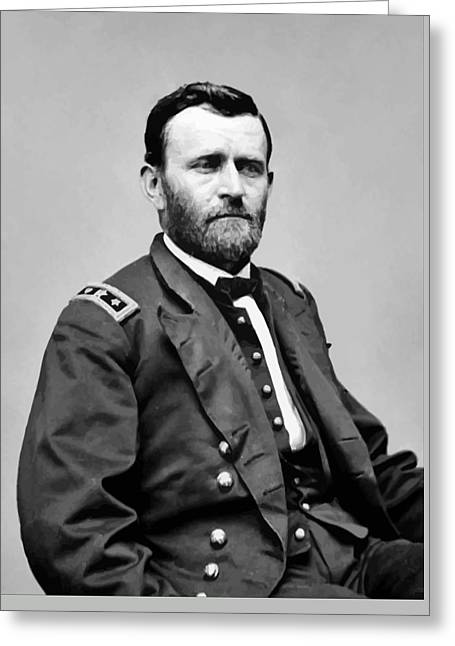 Product Paintings Greeting Cards - General Grant Greeting Card by War Is Hell Store