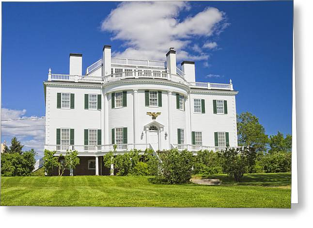 Old Maine Houses Greeting Cards - General Henry Knox Estate Thomaston Maine Photo Greeting Card by Keith Webber Jr