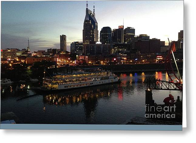 Nashville Tennessee Greeting Cards - General Jackson on Cumberland River Nashville Tn Greeting Card by Wanda-Lynn Searles