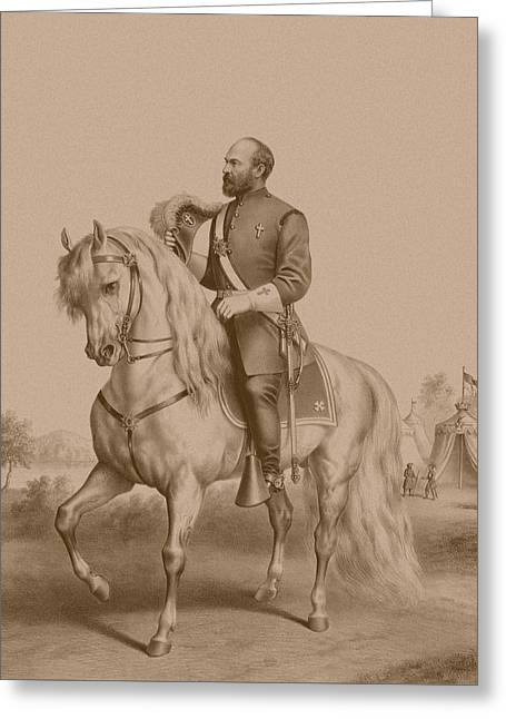 Garfield Greeting Cards - General James Garfield Greeting Card by War Is Hell Store
