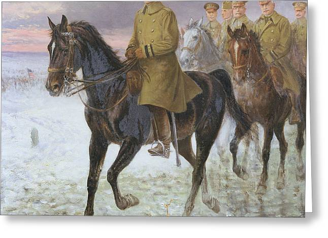 General John J Pershing  Greeting Card by Jan van Chelminski