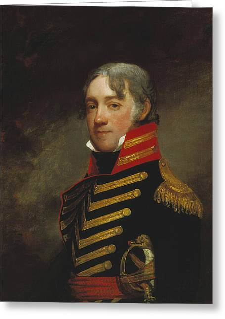 General John R. Fenwick Greeting Card by Gilbert Stuart