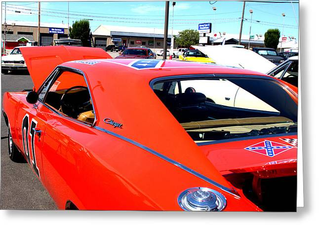 Dukes Of Hazard Show Greeting Cards - General Lee Greeting Card by Fine Art Photography By Stephanie