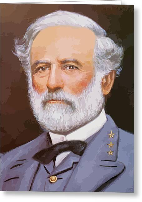 Stored Greeting Cards - General Lee Greeting Card by War Is Hell Store