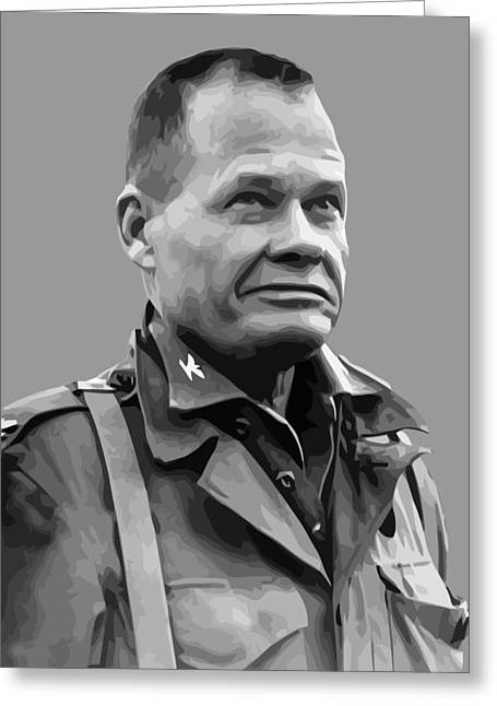 Lewis Puller Greeting Cards - General Lewis Chesty Puller Greeting Card by War Is Hell Store