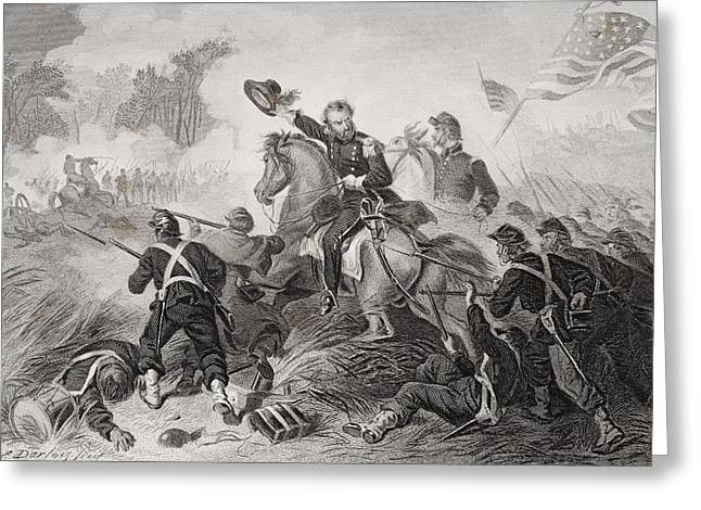 General Lyons Charge At The Battle Of Greeting Card by Vintage Design Pics