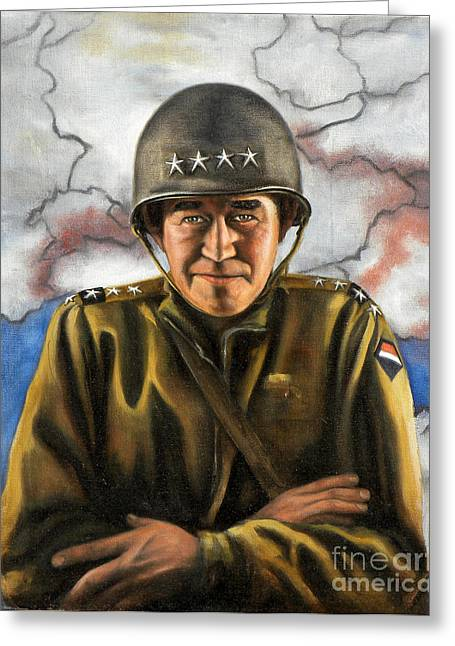 General Bradley Greeting Cards - General Omar Bradley Greeting Card by Richard Barone