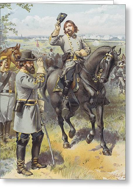 Engagement Picture Greeting Cards - General Pickett Taking The Order To Greeting Card by Ken Welsh