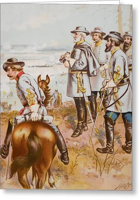 Engagement Picture Greeting Cards - General Robert E. Lee At The Battle Of Greeting Card by Ken Welsh