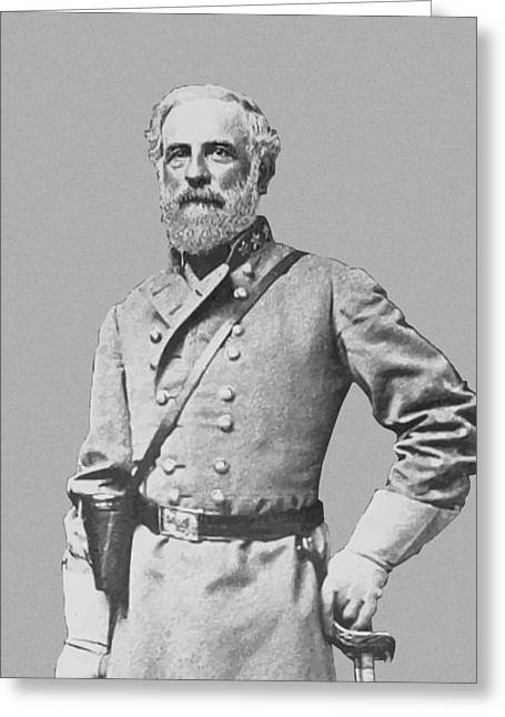 Products Greeting Cards - General Robert E Lee Greeting Card by War Is Hell Store