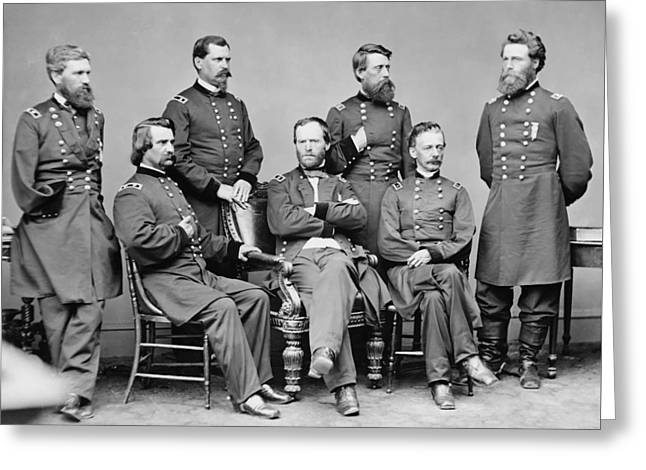 General Sherman And His Staff  Greeting Card by War Is Hell Store