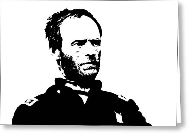 Military Generals Greeting Cards - General Sherman Greeting Card by War Is Hell Store