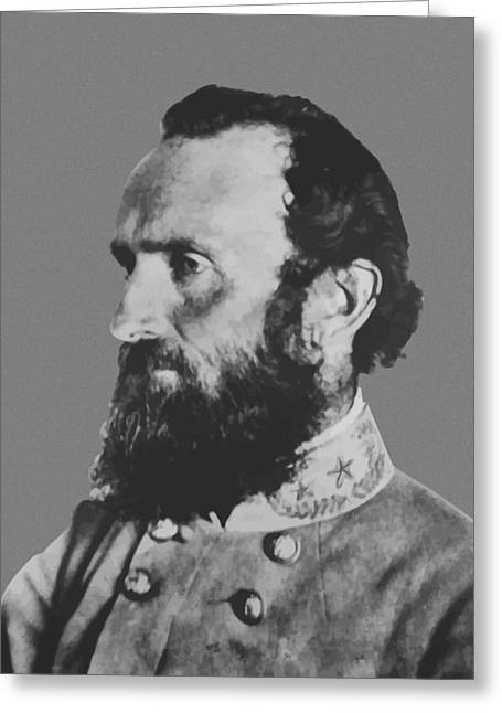 Civil War History Greeting Cards - General Stonewall Jackson Greeting Card by War Is Hell Store