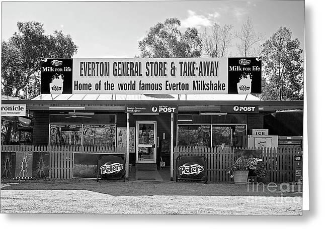 General Store, Everton Greeting Card by Linda Lees