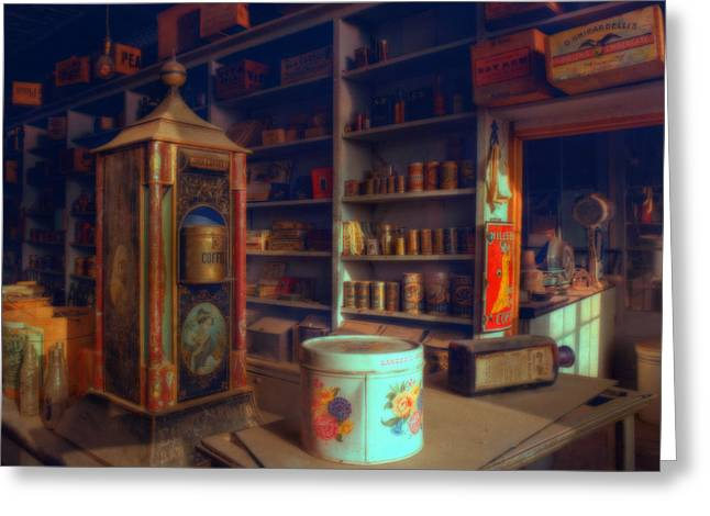 General Store For Canvas Greeting Card by Lar Matre