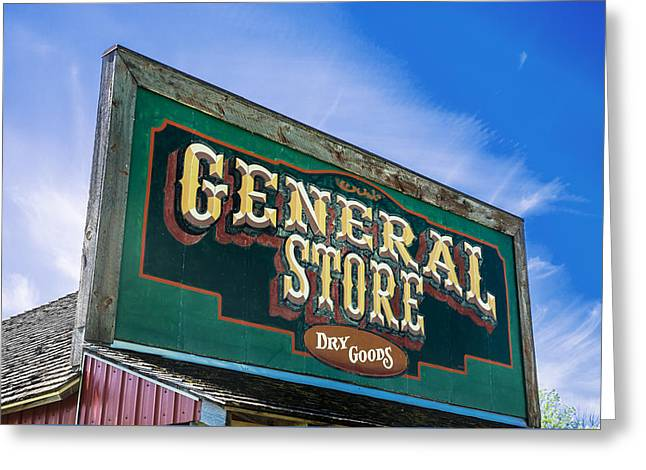 Outbuildings Greeting Cards - General Store Sign Greeting Card by Donald  Erickson