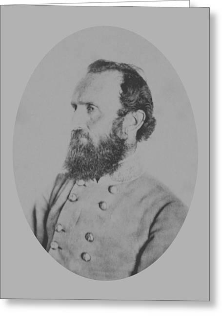 Thomas Mixed Media Greeting Cards - General Thomas Stonewall Jackson Greeting Card by War Is Hell Store