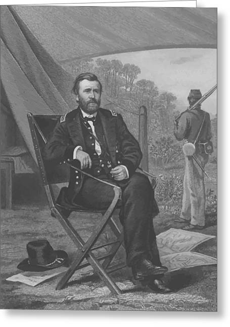 American Civil War Drawings Greeting Cards - General U.S. Grant Greeting Card by War Is Hell Store