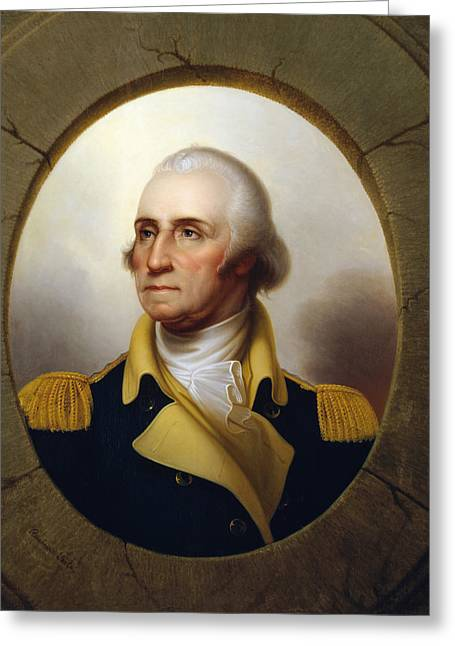Politicians Paintings Greeting Cards - General Washington Greeting Card by War Is Hell Store