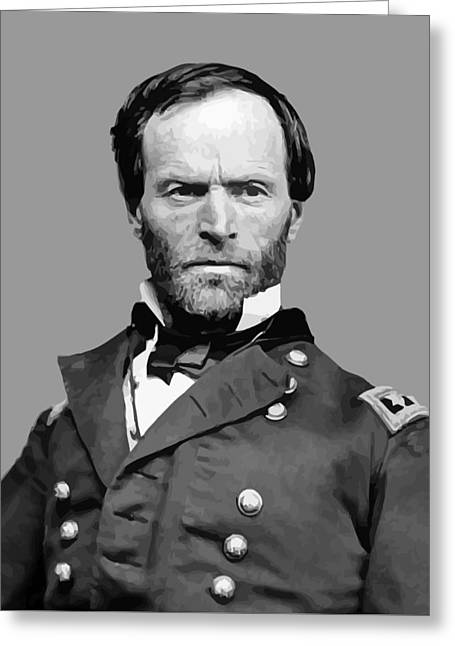 Products Greeting Cards - General William Tecumseh Sherman Greeting Card by War Is Hell Store
