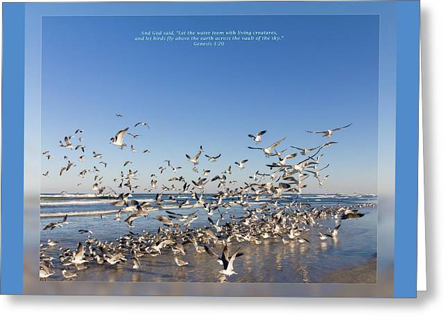 Wildlife Celebration Greeting Cards - Genesis 1 20 Greeting Card by Dawn Currie