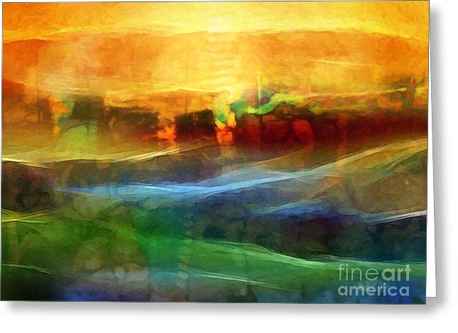 Abstract Field Greeting Cards - Genesis III Greeting Card by Lutz Baar