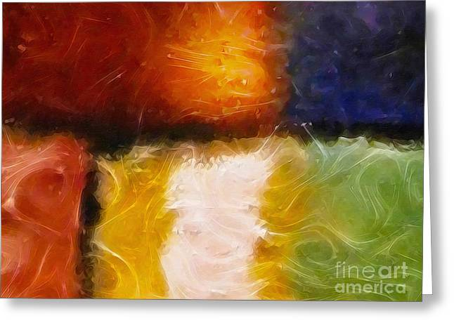 Abstract Field Greeting Cards - Genesis IV Greeting Card by Lutz Baar