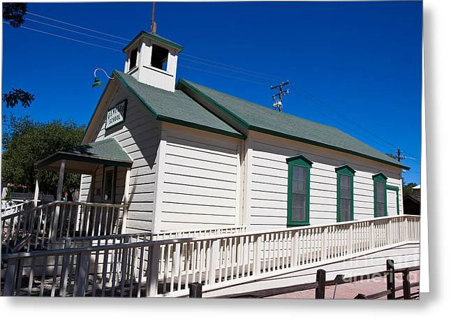 Historical Images Greeting Cards - Geneso School Greeting Card by Jason O Watson