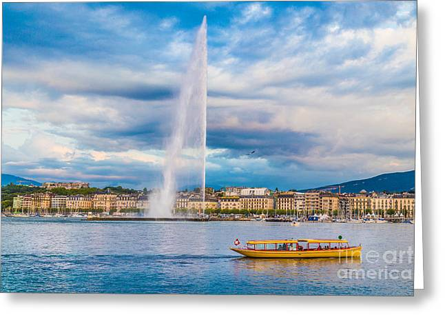 Swiss Photographs Greeting Cards - Geneva Greeting Card by JR Photography