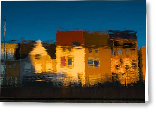 Cardboard Greeting Cards - Gent canal  reflexions Greeting Card by Antonio Costa
