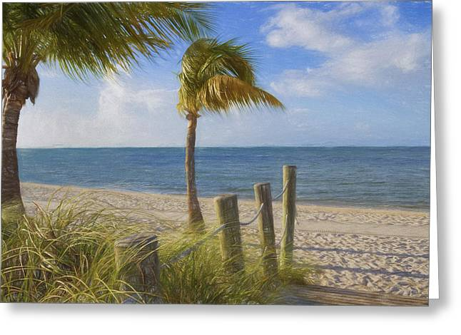 Ocean Shore Greeting Cards - Gentle Breeze at the Beach Greeting Card by Kim Hojnacki