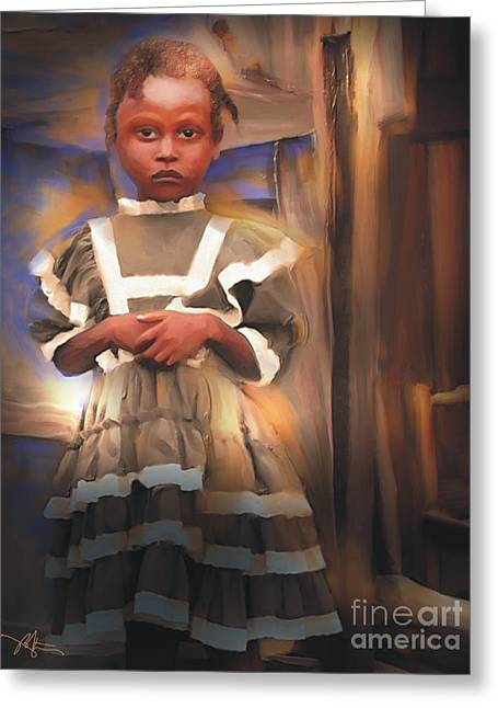 Haitian Greeting Cards - Gentle Dignity Greeting Card by Bob Salo