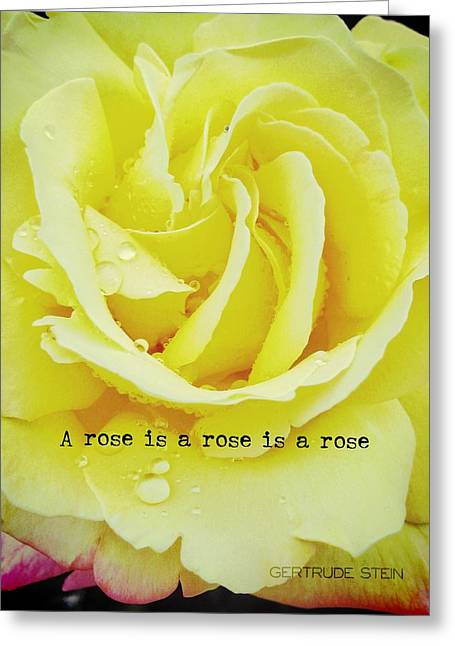 Stein Greeting Cards - GENTLE GOLD quote Greeting Card by JAMART Photography