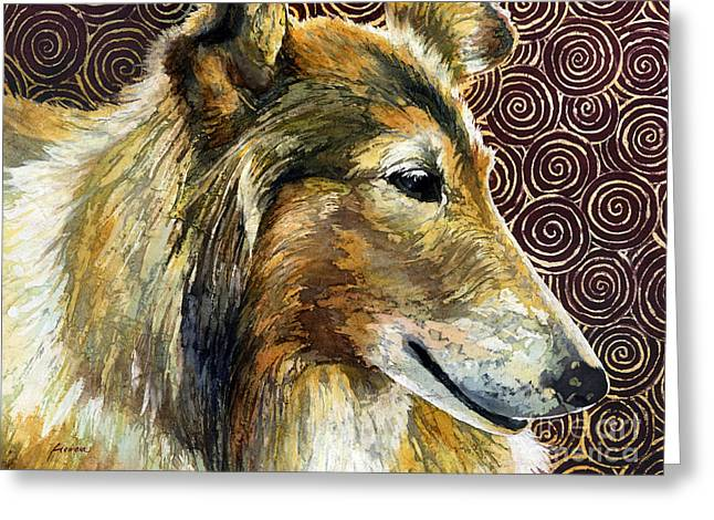 Dog Portraits Greeting Cards - Gentle Spirit - Reveille VIII Greeting Card by Hailey E Herrera