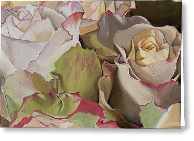 Rose Petals Greeting Cards - Gentle Swell Greeting Card by Elena Karavodin