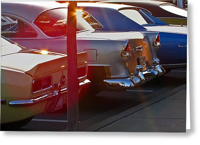 Muscle Greeting Cards - Gentlemen Stop Your Engines Greeting Card by Gary Adkins
