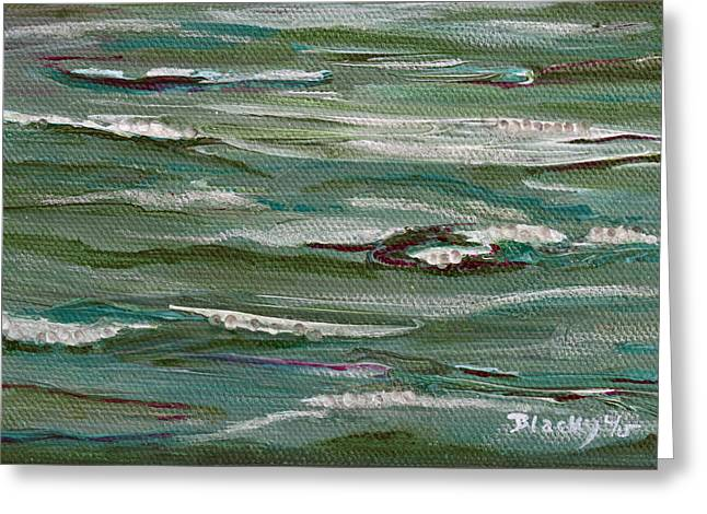 Brook Mixed Media Greeting Cards - Gently Down The Stream Greeting Card by Donna Blackhall